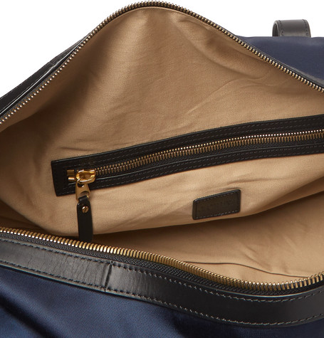 Leather Trimmed Nylon Holdall by J.Crew