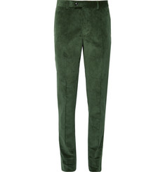 MP Massimo Piombo Dark-Green Cotton-Corduroy Suit Trousers