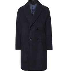 MP Massimo Piombo Double-Breasted Shawl-Collar Baby Alpaca-Blend Coat