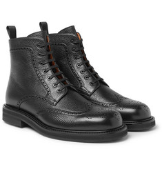 Mr P. - Jacques Full-Grain Leather Brogue Boots