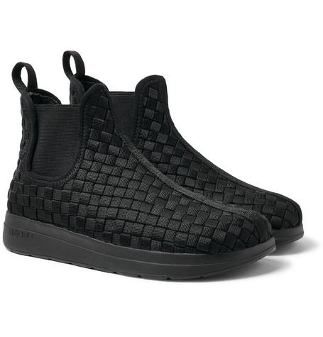 MALIBU Garden Woven Nylon-Webbing Boot in Black