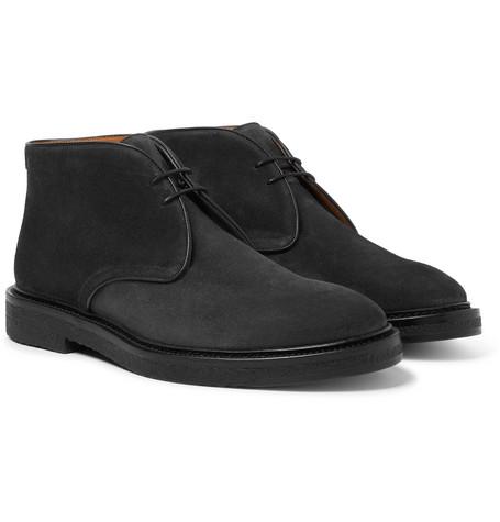 MR P. Lucien Suede Desert Boots - Black