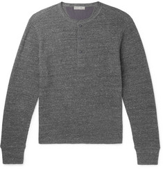 Alex Mill Waffle-Knit Cotton Henley T-Shirt