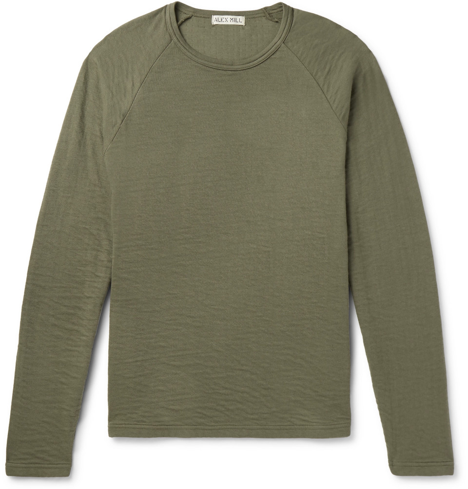 Double-faced Cotton T-shirt - Army green