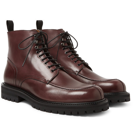 MR P. Jacques Leather Boots - Burgundy