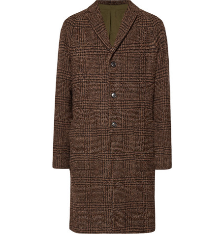 Checked Bouclé Overcoat by Todd Snyder
