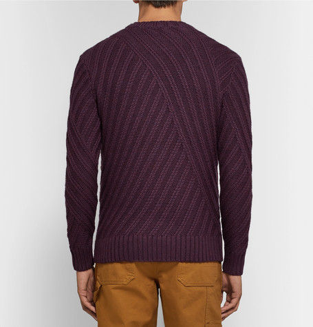 Ribbed Mélange Merino Wool Sweater by Todd Snyder