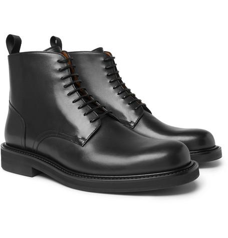 MR P. Jacques Leather Derby Boots - Black