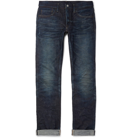 FABRIC BRAND & CO. Doran Slim-Fit Selvedge Denim Jeans in Dark Denim