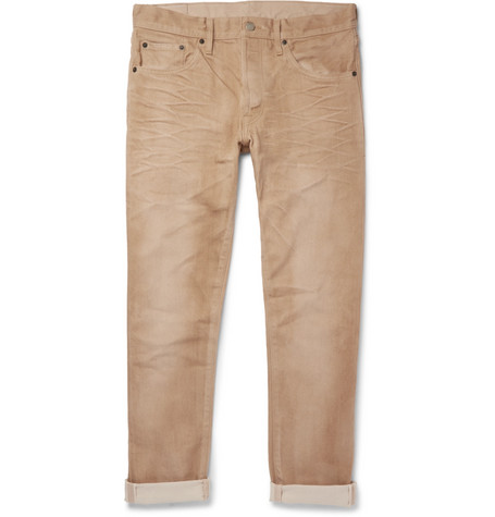 FABRIC BRAND & CO. Xeno Slim-Fit Selvedge Denim Jeans in Tan