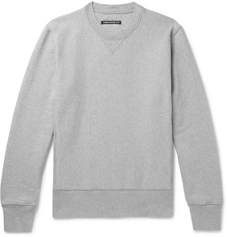 FABRIC BRAND & CO. Loopback Cotton And Linen-Blend Jersey Sweatshirt in Gray