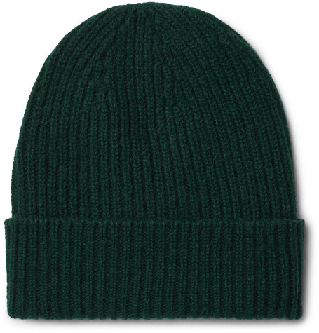 ANDERSON & SHEPPARD RIBBED CASHMERE BEANIE