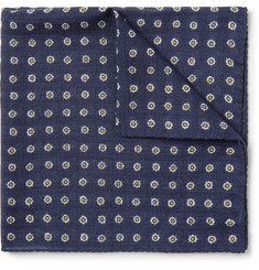 Anderson & Sheppard - Printed Wool-Twill Pocket Square