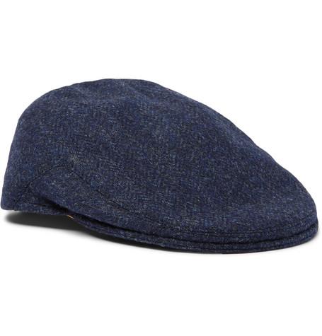 Anderson & Sheppard – Wool-tweed Flat Cap – Navy