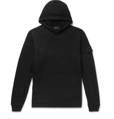 Stone Island Fleece-Back Wool-Jersey Hoodie