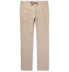 Hartford - Troy Slim-Fit Linen-Chambray Drawstring Trousers