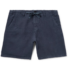 Hartford - Slim-Fit Linen-Chambray Drawstring Shorts