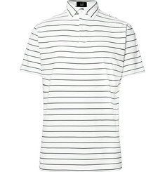 Dunhill Links Lonsdale Striped Tech-Jersey Golf Polo Shirt