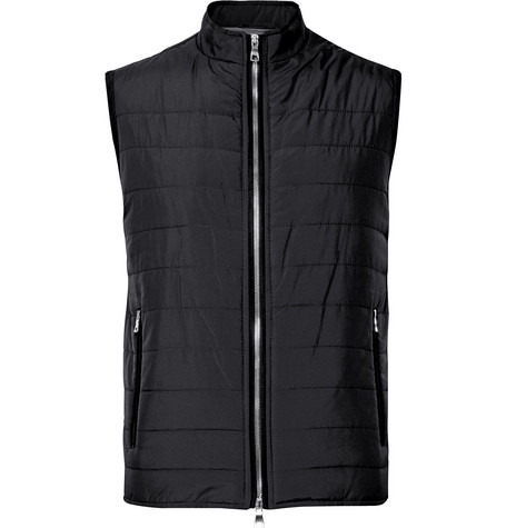 DUNHILL LINKS Slim-Fit Quilted Shell Gilet in Midnight