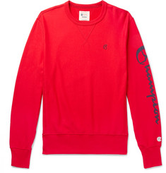 Todd Snyder + Champion Logo-Print Loopback Cotton-Jersey Sweatshirt