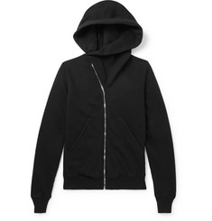 Rick Owens Mountain Fleece-Back Cotton-Jersey Zip-Up Hoodie