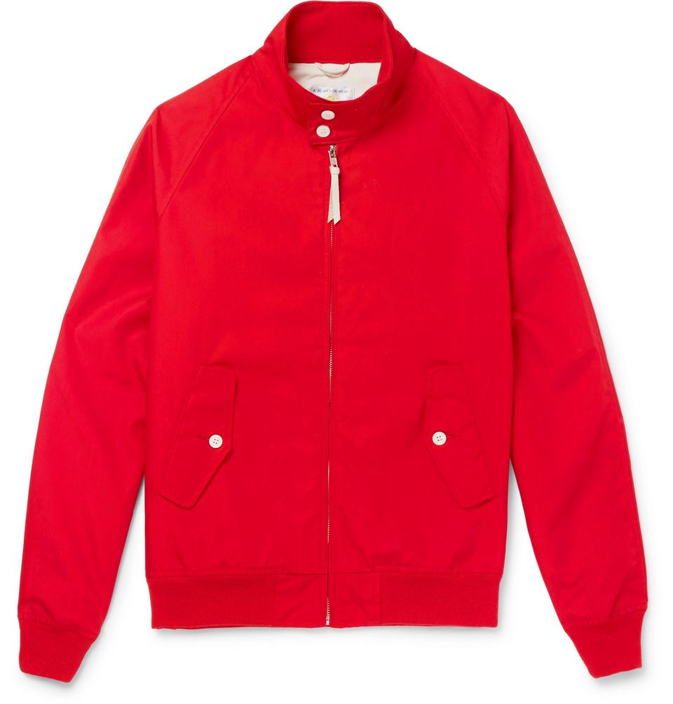 Poplin Blouson Jacket - Red