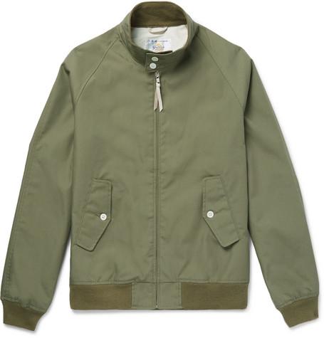 GOLDEN BEAR Poplin Blouson Jacket - Green