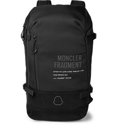 Moncler Genius 7 Moncler Fragment Suede-Trimmed Printed Shell Backpack