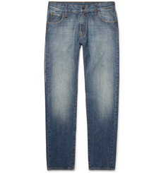 Moncler Genius - 7 Moncler Fragment Embroidered Washed-Denim Jeans