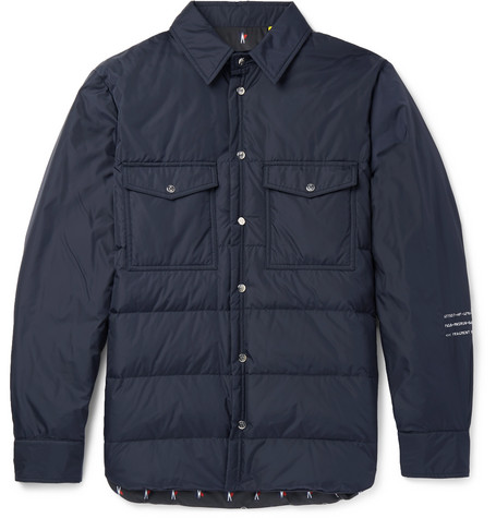 01e6ee42734 Moncler Genius 7 Moncler Fragment Maze Quilted Shell Down Jacket In Navy