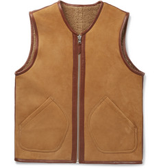 YMC - Reversible Shearling and Nubuck Gilet