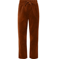 YMC - Wide-Leg Cotton-Corduroy Drawstring Trousers