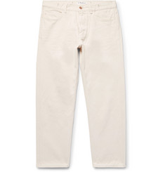 YMC - Cropped Cotton and Linen-Blend Jeans