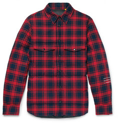 Moncler Genius 7 Moncler Fragment Moran Quilted Checked Brushed Cotton-Flannel Down Overshirt