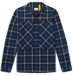 Moncler Genius 7 Moncler Fragment Logo-Print Checked Cotton-Flannel Shirt