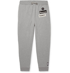 Moncler Genius 7 Moncler Fragment Slim-Fit Logo-Appliquéd Loopback Cotton-Jersey Sweatpants