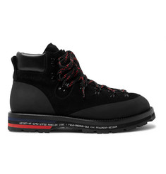 Moncler Genius 7 Moncler Fragment Suede, Leather and Rubber Boots