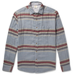 Faherty Belmar Reversible Striped Cotton Shirt