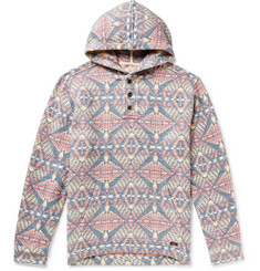 Faherty Pacific Organic Brushed Cotton-Jacquard Hoodie