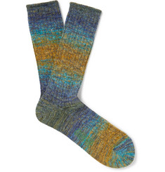 Anonymous Ism Mélange-Knit Socks