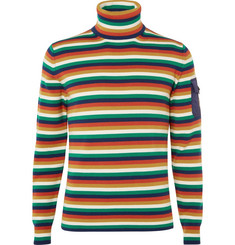 Moncler Genius Striped Merino Wool-Blend Ski Rollneck Base Layer