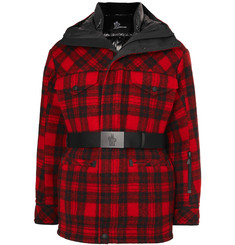 Moncler Genius 3 Moncler Grenoble Stowe Checked Virgin Wool Hooded Down Ski Jacket