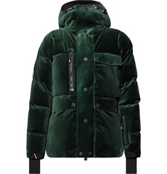 Moncler Genius - 3 Moncler Grenoble Telluride Stretch-Shell Trimmed Velvet Hooded Down Jacket