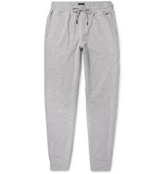 Hanro Slim-Fit Tapered Mélange Stretch-Cotton Jersey Sweatpants