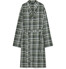Hanro Loran Checked Cotton Robe