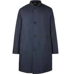 Loro Piana Sebring Windmate Storm System Suede-Trimmed Shell Coat