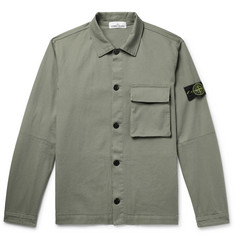Stone Island Stretch-Cotton Gabardine Overshirt