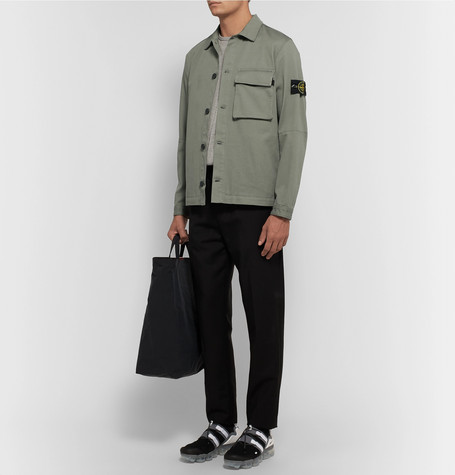 Stretch Cotton Gabardine Overshirt by Stone Island