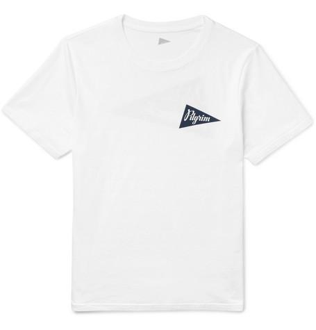 PILGRIM SURF + SUPPLY Printed Cotton-Jersey T-Shirt in White