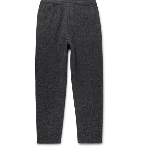 PILGRIM SURF + SUPPLY Harry Tapered Wool-Blend Trousers in Charcoal